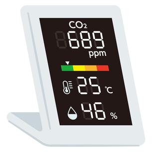 二酸化炭素濃度測定器のイラスト素材 [FYI04899541]