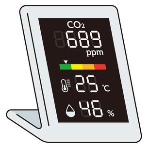 二酸化炭素濃度測定器のイラスト素材 [FYI04899542]