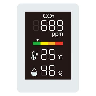 二酸化炭素濃度測定器のイラスト素材 [FYI04899543]