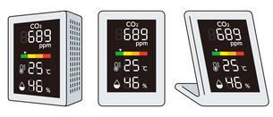 二酸化炭素濃度測定器のイラスト素材 [FYI04899548]