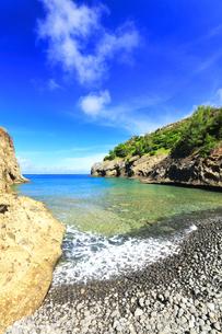 小笠原国立公園 母島の万年青浜に寄せる波の写真素材 [FYI04899662]