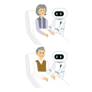AIロボットと老人のイラスト素材 [FYI04899870]