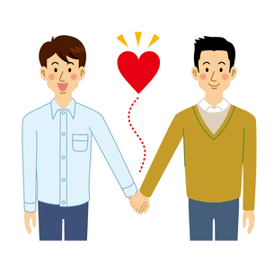 ゲイカップルのイラスト素材 [FYI04899890]