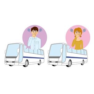 バス酔いする男女のイラスト素材 [FYI04899896]