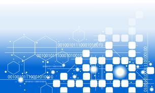 人工知能やコンピュータテクノロジー背景イラストのイラスト素材 [FYI04900018]