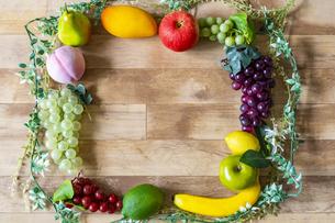 野菜・果物のフレームの写真素材 [FYI04900123]