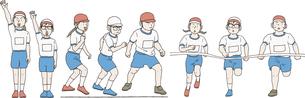 運動会でかけっこ、選手宣誓をするのイラスト素材 [FYI04900387]