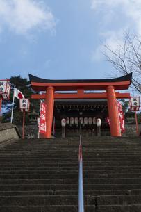 正月の長崎八坂神社参道の写真素材 [FYI04900609]
