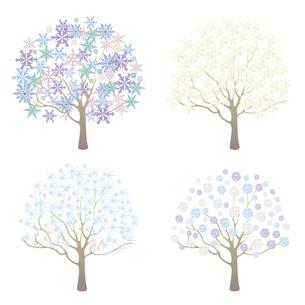 冬のイメージ樹木イラストセットのイラスト素材 [FYI04900714]