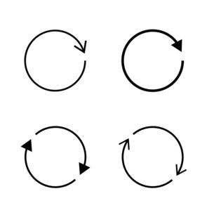 回転する矢印アイコンセットのイラスト素材 [FYI04900722]