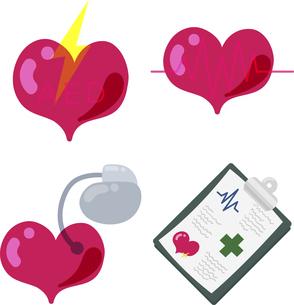 AEDやペースメーカーや心電図やカルテなどの日常的な医療品のアイコン Icons for everyday medical itのイラスト素材 [FYI04901079]