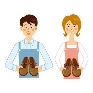靴作りが趣味の男女のイラスト素材 [FYI04901119]