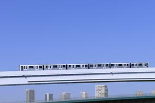 豊洲ぐるり公園から見る新交通ゆりかもめと高層タワーマンション群の写真素材 [FYI04901309]