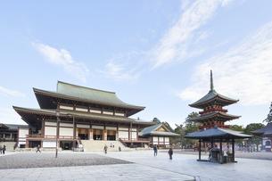 成田山大本堂と三重塔の写真素材 [FYI04901391]