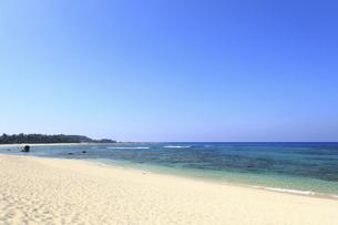 奄美大島土森海岸の青く澄んだ美しい海の風景の写真素材 [FYI04901453]