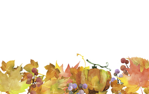 秋のデコレーション 水彩イラストのイラスト素材 [FYI04901651]