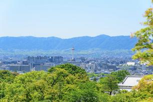 関西の風景 京都市 清水寺から望む 京都市街の写真素材 [FYI04901834]