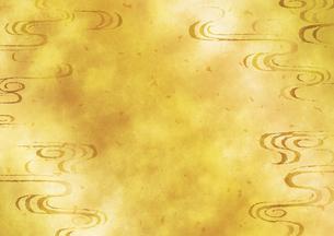 和柄流水背景 金のイラスト素材 [FYI04901851]