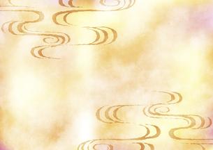 和柄流水背景 ベージュのイラスト素材 [FYI04901854]