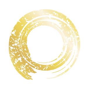 筆の丸 金のイラスト素材 [FYI04901869]