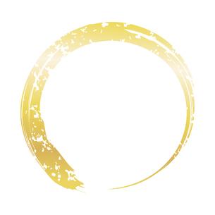 筆の丸 金のイラスト素材 [FYI04901874]