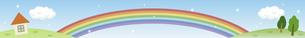 虹の架かった青空のイラスト素材 [FYI04902030]