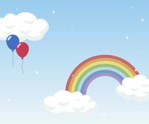 虹の架かった青空のイラスト素材 [FYI04902034]