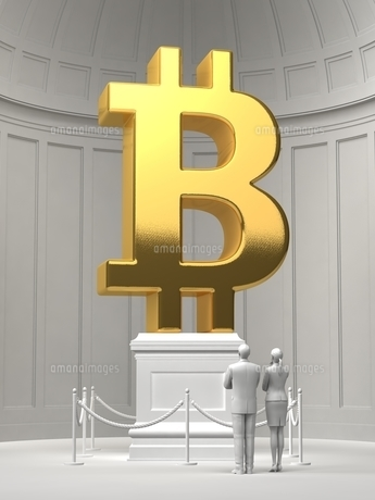 美術館にあるビットコインシンボルのイラスト素材 [FYI04902245]