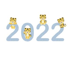 2022寅年の文字イラスト素材のイラスト素材 [FYI04902974]