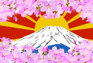 桜と富士山のイラスト素材 [FYI04903510]