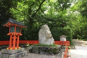 下鴨神社 世界文化遺産の石碑の写真素材 [FYI04903611]