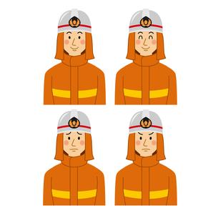 男性色々な表情のパターンのイラスト素材 [FYI04903701]