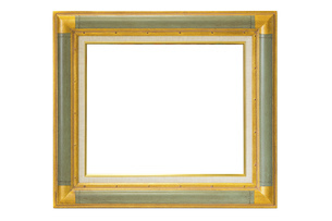 絵画の額(白背景)の写真素材 [FYI04903890]