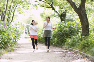 ジョギングする女性の写真素材 [FYI04904206]