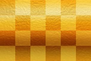 金色の市松模様の和紙【はがきテンプレート】のイラスト素材 [FYI04905210]