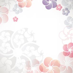梅の花のイラストの背景のイラスト素材 [FYI04905667]