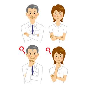 困る医者と看護師のイラスト素材 [FYI04905680]