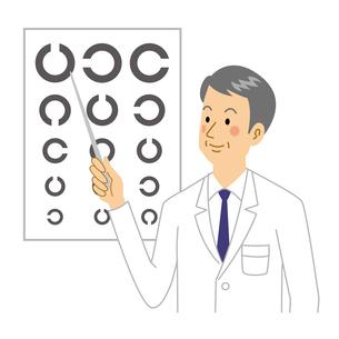 視力検査をする眼医者のイラスト素材 [FYI04905692]