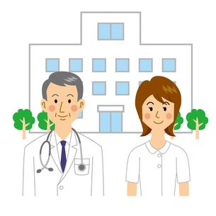 病院と医者と看護師のイラスト素材 [FYI04905700]