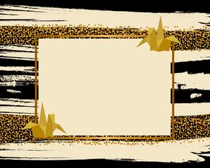 折り鶴と金色ラメの背景のイラスト素材 [FYI04905955]