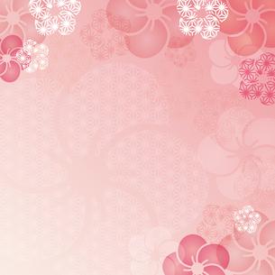 梅の花の和柄イラスト背景のイラスト素材 [FYI04905962]