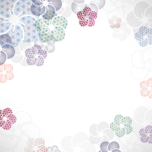 梅の花の和柄イラスト背景のイラスト素材 [FYI04906118]