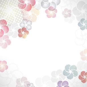 梅の花の和柄イラスト背景のイラスト素材 [FYI04906137]