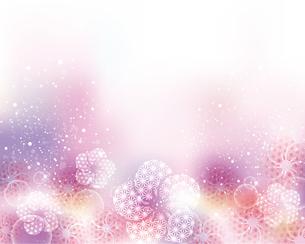 和柄の梅の花と光の背景のイラスト素材 [FYI04906471]