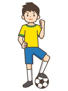 サッカーをする男の子のイラスト素材 [FYI04906794]