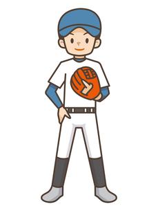 野球をする男の子のイラスト素材 [FYI04906795]
