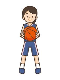 バスケットボールをする女の子のイラスト素材 [FYI04906797]