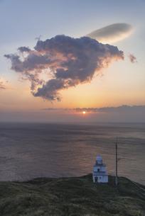 利尻島・ペシ岬からの朝空の写真素材 [FYI04907080]