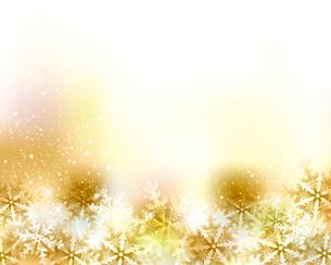 光と雪の結晶の背景のイラスト素材 [FYI04907273]