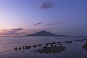 夜明けの利尻富士の写真素材 [FYI04907457]